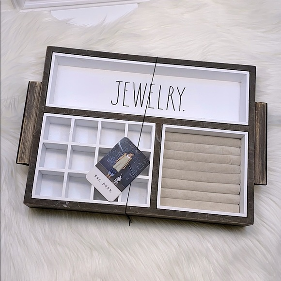 Rae Dunn ✖️ Large Jewelry Tray for Vanity Top NWT